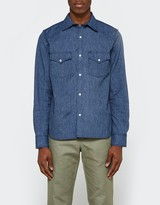 Rogue Territory Western Shirt Mock Twist Denim