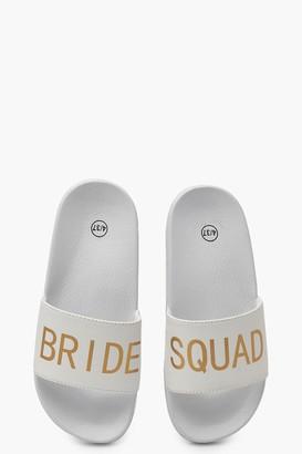 boohoo Bride Squad Slogan Sliders