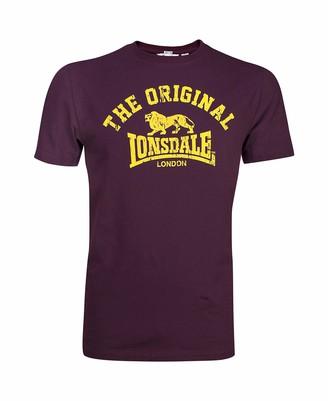 Lonsdale London Men's T-shirt Regula Fit Original Red - X-Large (Manufacturer size: XL)