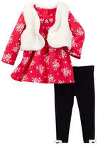 Little Me Raspberry 3-Piece Vest Set (Baby Girls)