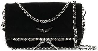 Zadig & Voltaire Rock nano stud clutch bag