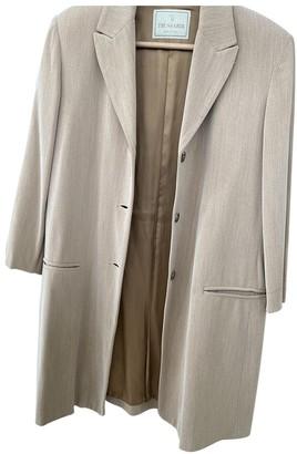 Trussardi Beige Wool Coat for Women