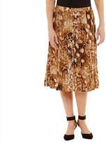 Alfred Dunner Jungle Love Animal Pleated Skirt
