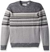 Original Penguin Men's Engineered Fairisle Crew Sweater