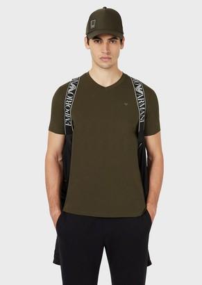 Emporio Armani Travel Essentials Jersey V-Neck T-Shirt