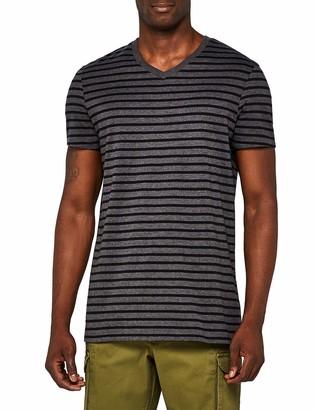 Meraki Amazon Brand Men's Striped V- Neck T-Shirt