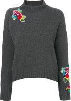 Ermanno Scervino flower embroidered jumper