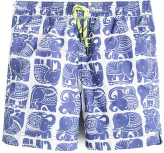 J.Crew Crewcuts By Boys' Swim Trunk In Elephant Print With Upf 50+