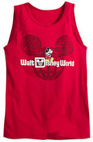 Disney Mickey Mouse with Walt World Logo Tank Tee for Adults - Red