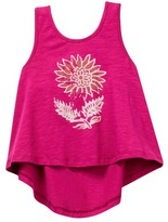 Mimi & Maggie Beach Sunflower Knit Tank (Toddler, Little Girls, & Big Girls)