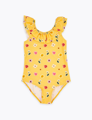 Marks and Spencer Floral Frill Swimsuit (6-16 Yrs)