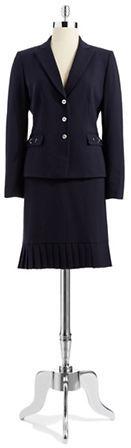 Tahari ARTHUR S. LEVINE Two-Piece Pin Striped Blazer and Skirt Suit