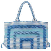 Antonello Martis Woven Cotton Tote Bag, Blue/Gray