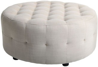 Home & Giftware Round Ottoman With Buttons