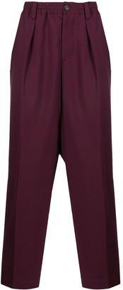 Marni Elasticated-Waist Straight-Leg Trousers