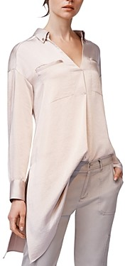 b new york Asymmetric Hem Shirt