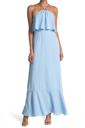 Charles Henry Popover Maxi Dress