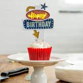 all things Brighton beautiful Happy Birthday Flashing Cake Topper