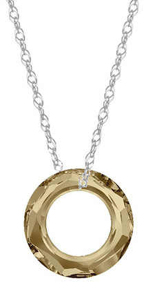 Swarovski Sevil 925 Women's Necklaces - Golden & Sterling Silver Cosmic Pendant Necklace with Crystals