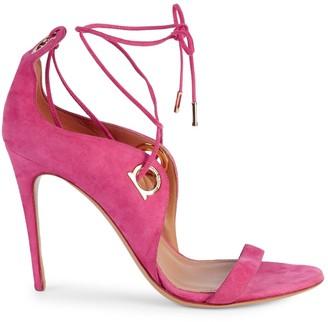 Salvatore Ferragamo Fandila Lace-Up Suede Sandals