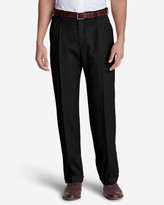 Eddie Bauer Men's Relaxed Fit Pleated Wool Gabardine Trousers