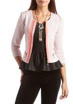 Charlotte Russe Pop Color Boucle Blazer