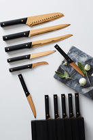 Anthropologie Bronzed 13-Piece Knife Block Set