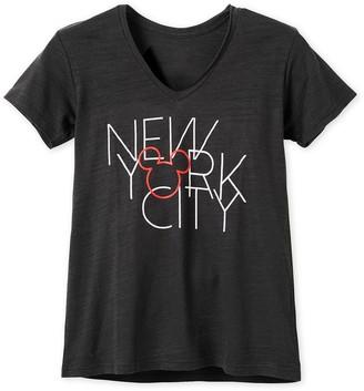 Disney Mickey Mouse New York City V-Neck T-Shirt for Women