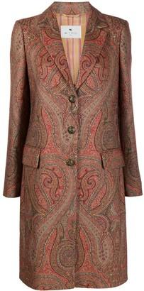 Etro Paisley Single-Breasted Coat