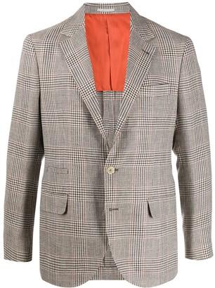Brunello Cucinelli Houndstooth Check Blazer