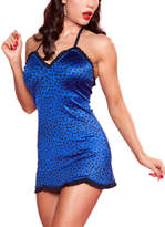 Bettie Page Royal Ruffle Bunny Hop One-Piece Swimsuit - Plus