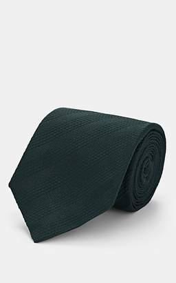 Isaia Men's Striped Silk Necktie - Green