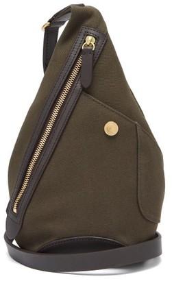 Mismo - Drop Canvas & Leather Cross-body Bag - Dark Brown
