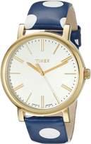 Timex Women's Originals TW2P63500 Blue/White Leather Analog Quartz Watch