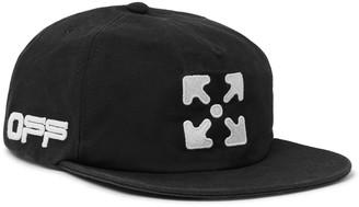 Off-White Logo-Embroidered Cotton-Twill Baseball Cap