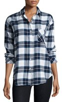 Rails Jackson Plaid Long-Sleeve Shirt, Blue/Black/White Check