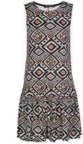 Select Fashion Fashion Womens Orange Neon Aztec Drop Waist Dress - size 6