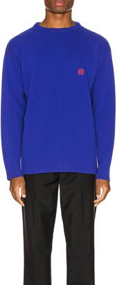 Loewe Anagram Sweater in Blue   FWRD