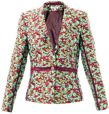 Elizabeth and James Amelie pop floral jacquard blazer