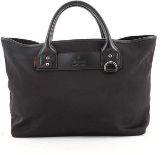 Gucci Web Loop Tote Techno Canvas Medium