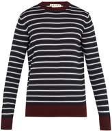 Marni Striped crew-neck wool-knit sweater