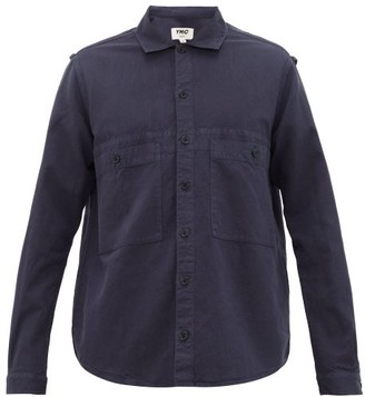 YMC Doc Savage Cotton-blend Shirt - Mens - Navy