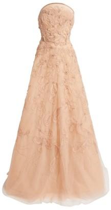 Marchesa Beaded Organza Gown