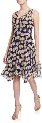 Diane von Furstenberg Dita Printed Sleeveless Handkerchief Dress