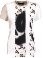 Marc by Marc Jacobs Paneled Printed Cotton-Jersey T-Shirt