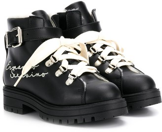 Ermanno Scervino TEEN lace-up snow boots