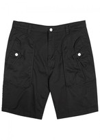 Helmut Lang Black Stretch Cotton Shorts