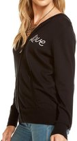 Chaser Women's Cashmere Love/Heart Zip Up Hoodie - Black