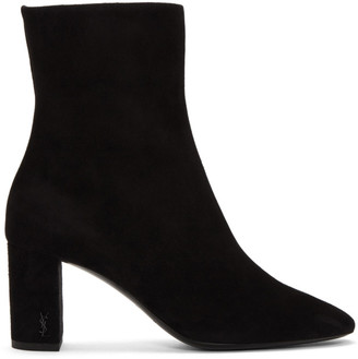 Saint Laurent Black Suede Loulou Boots