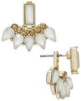 INC International Concepts Gold-Tone Stone and Crystal Earring Jackets, Created for Macy's